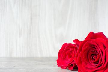 Roses on wood
