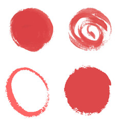 Red paint vector circle