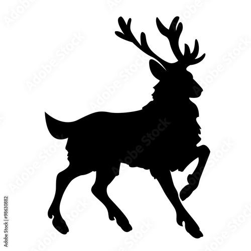 rentier weihnachten silhouette vektor stockfotos und. Black Bedroom Furniture Sets. Home Design Ideas