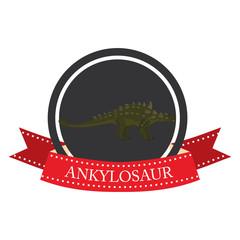 flat icon dinosaur ankylosaur
