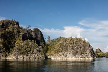 Limestone Islands in Tropical Pacific