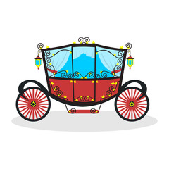 flat carriage in vector format