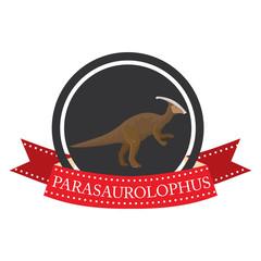 flat icon dinosaur parasaurolophus