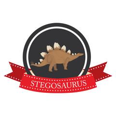 flat icon dinosaur stegosaurus