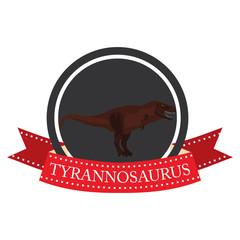flat icon dinosaur Tyrannosaurus