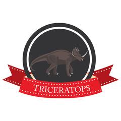 flat icon dinosaur Triceratops