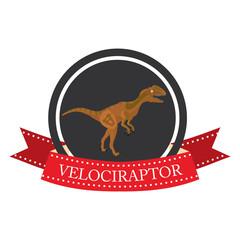 flat icon dinosaur VelociRaptor
