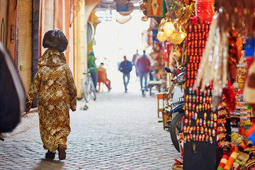 Women on Moroccan market in Marrakech, Morocco