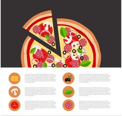 Pizza vector illustration