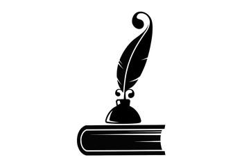 Перо, чернила и книга