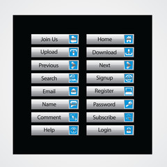 web and computing colorful web designing button template elements