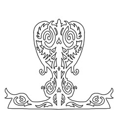 Beauty ornate heart for your design