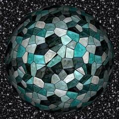 Abstract decorative magic sphere, stone - pattern, stock illustration