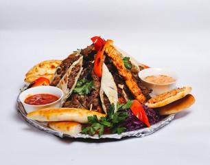Turkish fast food isolated on white