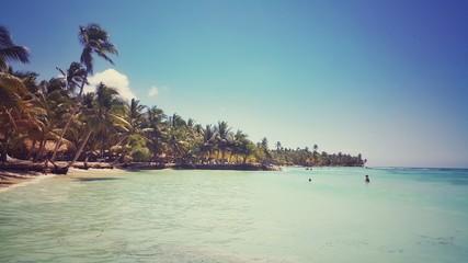Beautiful view toward the Saona island in Dominican Republic