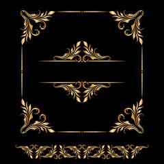 Vector set of vintage decorative elements.