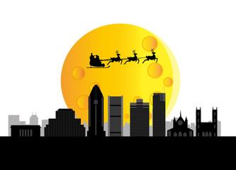 santa flying montreal canada