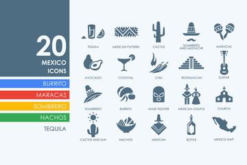 Set of Mexico icons