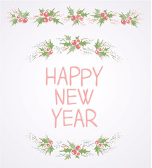 Wreath with Happy new year