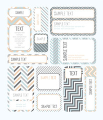 Tags for Design or scrapbook