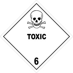 Toxic Substance Diamond Warning Label