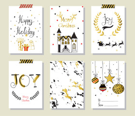 Light pink red gold love christmas greeting card with wreath gif