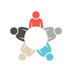 People group in circle graphic logo