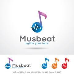 Music Beat Logo Template Design Vector