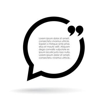 Quote text bubble illustration