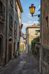 Wall Mural - Beautiful little streets of San - Marino waiting for tourists.
