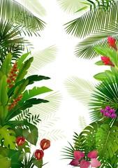 Fototapeta Exotic tropical background