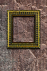 Retro frame on rustic old metal background and rust texture