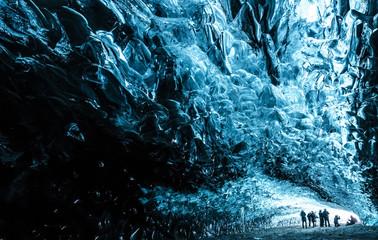 Inside an icecave in Vatnajokull, Iceland.