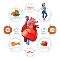 Heart medical vector infographics
