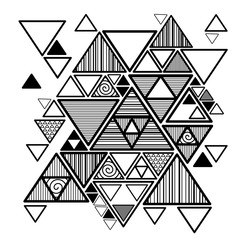 Wall Mural - Vector abstract background with hipster triangles
