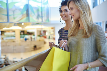 Two women at the shopping mall