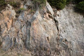 parete rocciosa come sfondo