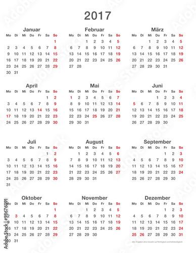 Jahresplaner 2017 Einfache Vorlage Hochformat Auch Für Die