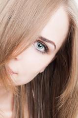 Half face beauty model