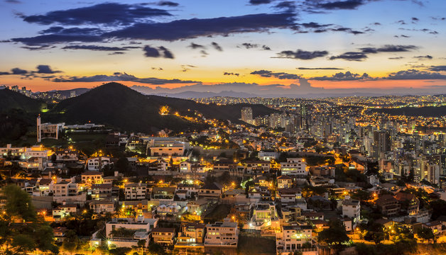 Belo Horizonte by night Brazil.