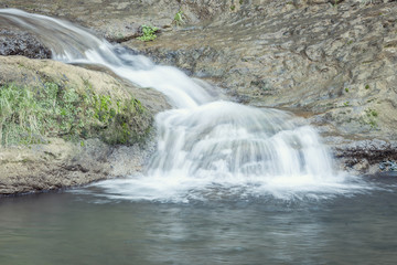 waterfall, silk effect