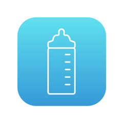 Feeding bottle line icon.