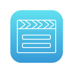 Clapboard line icon.