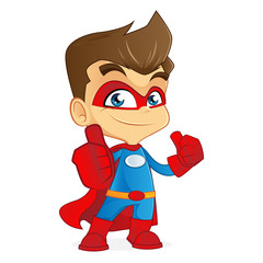 Cartoon illustration of a superhero