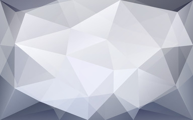 Abstract grey and white polygonal geometric background with high