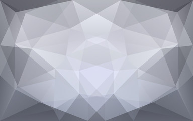 Abstract geometric polygonal background with symmetrical white a