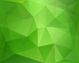 Green abstract polygonal background with geometric texture, suit