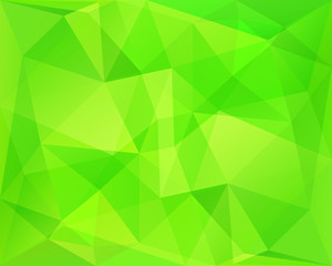 Abstract polygonal geometric background with neon green diagonal