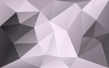 Grey polygonal geometric vector background with highlighted diag