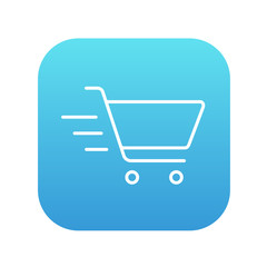 Shopping cart line icon.